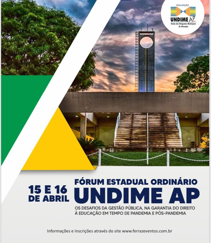 Fórum Estadual da Undime Amapá será nos dias 15 e 16 de abril