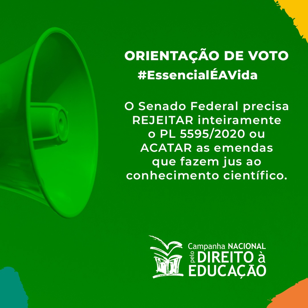 Em análise, Campanha faz orientação de voto a emendas do PL 5595/2020