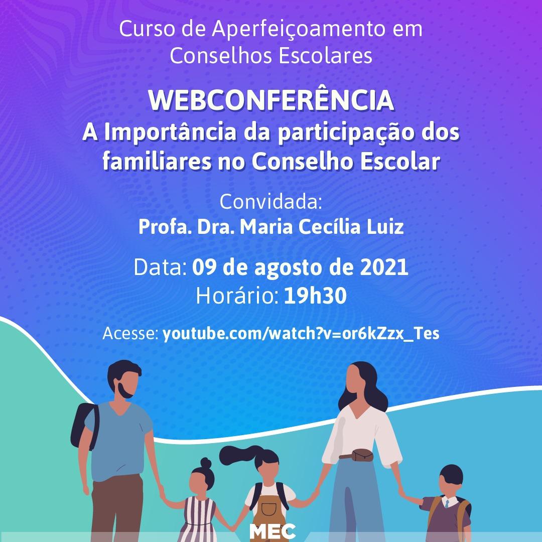 A participação da família no ambiente escolar será tema de webinar realizado pelo Ministério da Educação