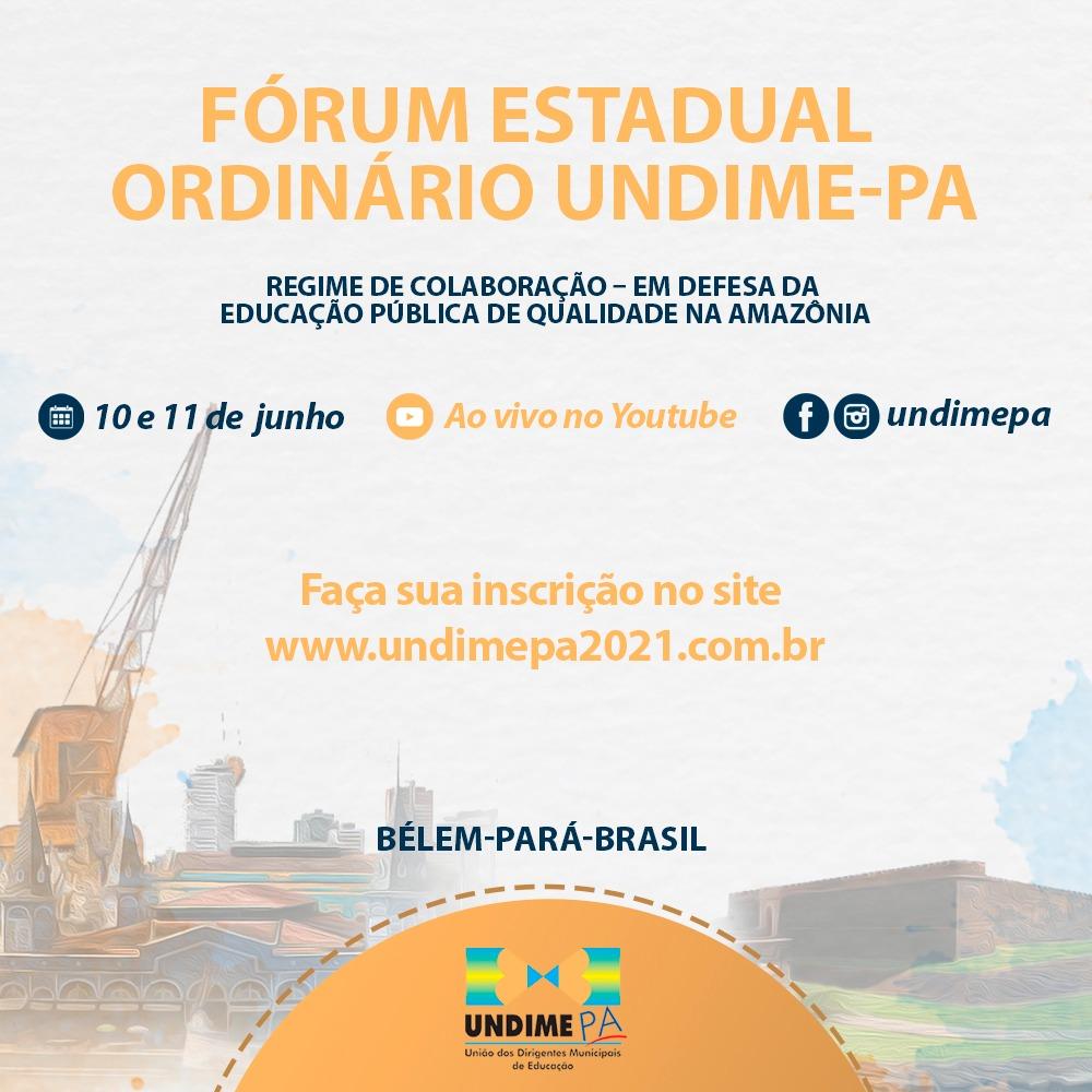 Fórum Undime Pará: inscrições abertas