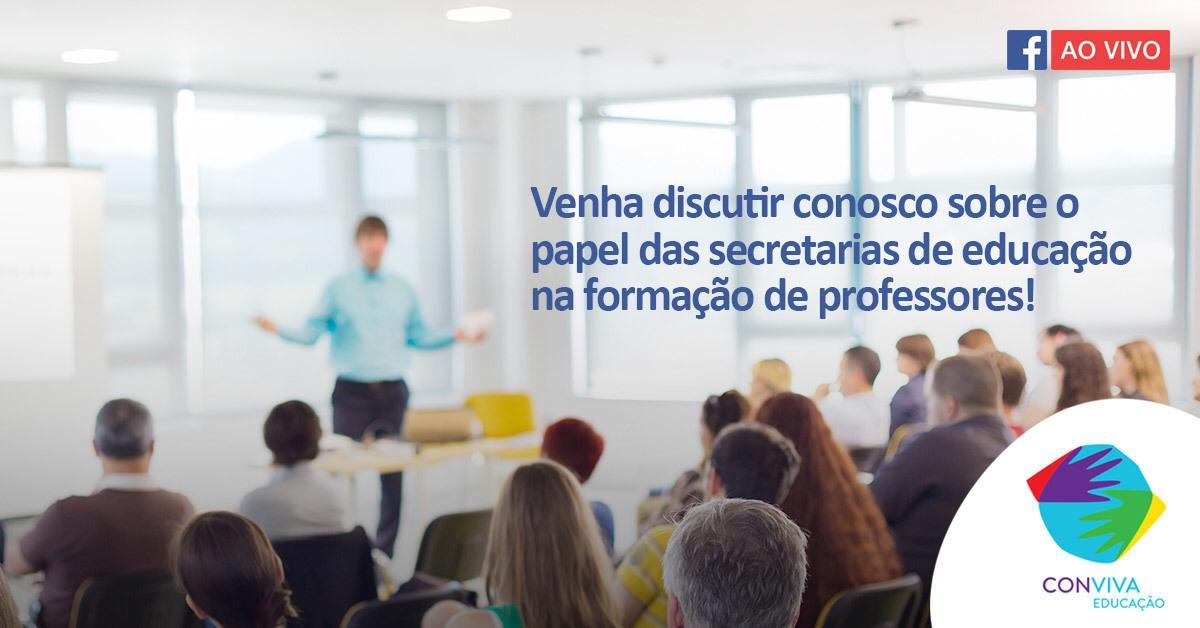 Conviva debate formação de professores e BNCC nesta terça-feira (13)