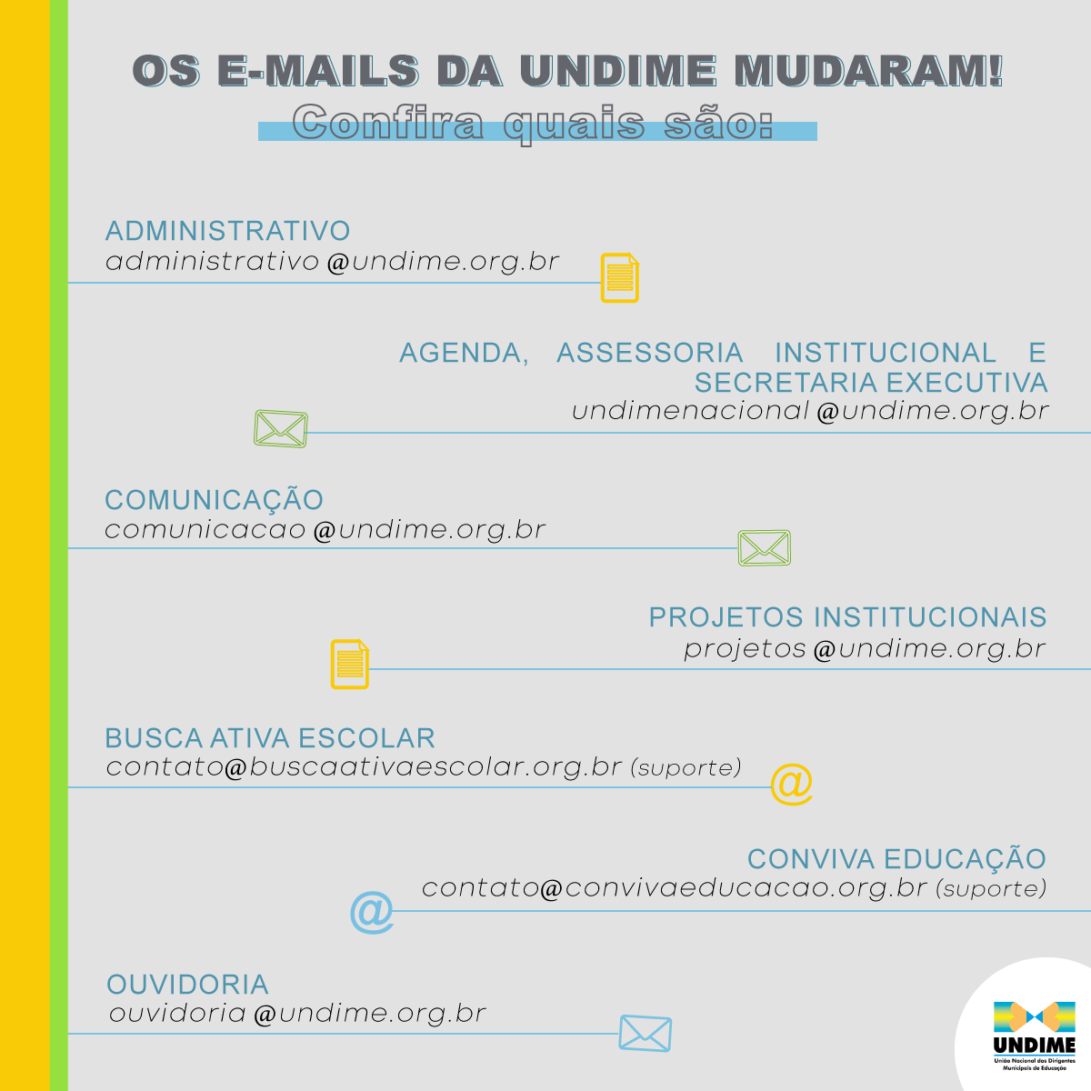 Mudanças no e-mail institucional