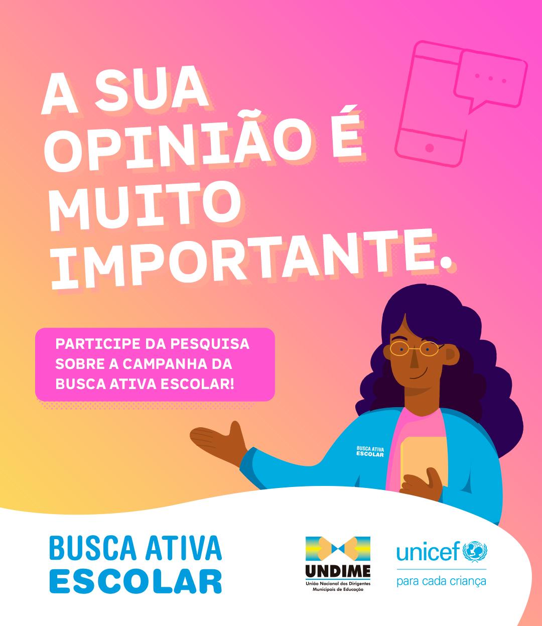 Participe da pesquisa sobre a campanha Busca Ativa Escolar