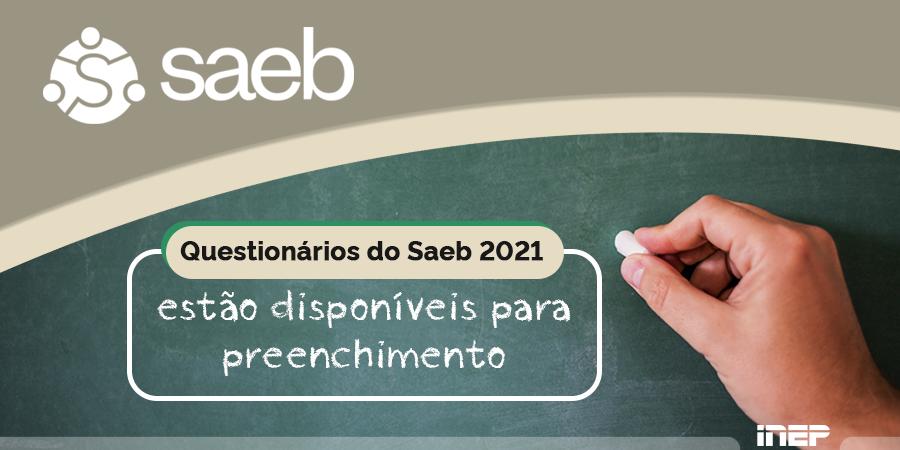 Questionários do Saeb 2021 estão disponíveis