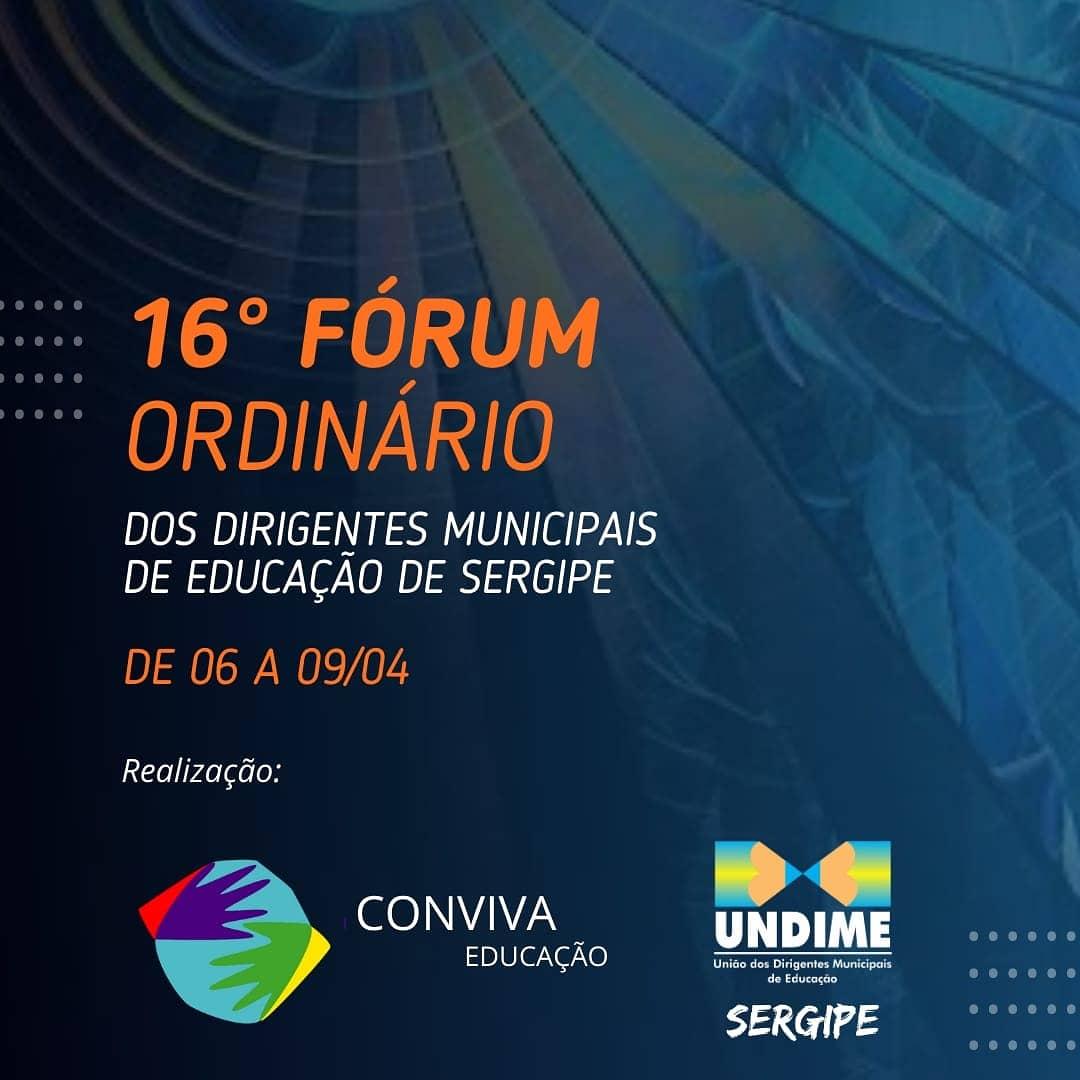 Inscrições abertas para o 16º Fórum Ordinário da Undime Sergipe
