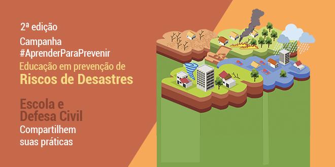Escolas podem inscrever projetos sobre prevenção de riscos de desastres até o dia 13 de outubro