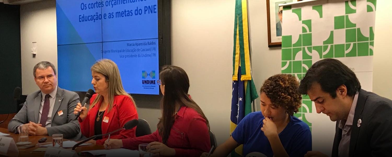 Cortes orçamentários na Educação e PNE Undime debate tema na Câmara dos Deputados