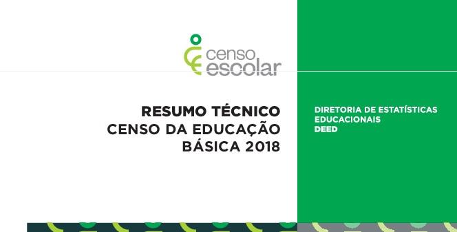 Resumo Técnico do Censo Escolar 2018 destaca principais resultados da pesquisa estatística