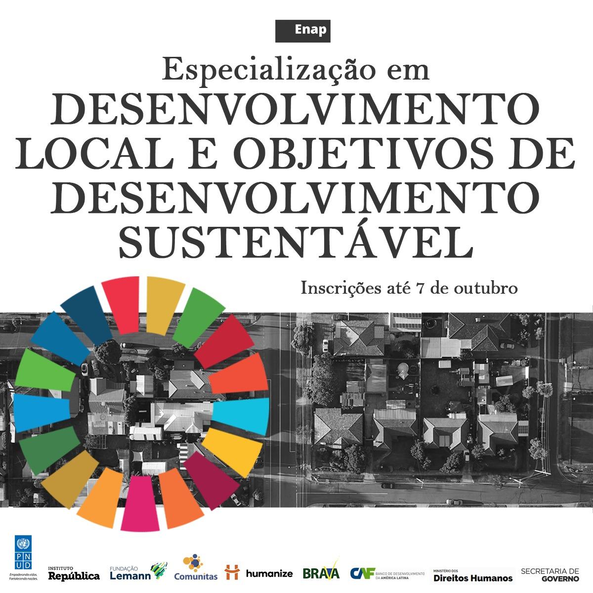 Especialização em Desenvolvimento Local e Objetivos de Desenvolvimento Sustentável recebe inscrições até 7 de outubro
