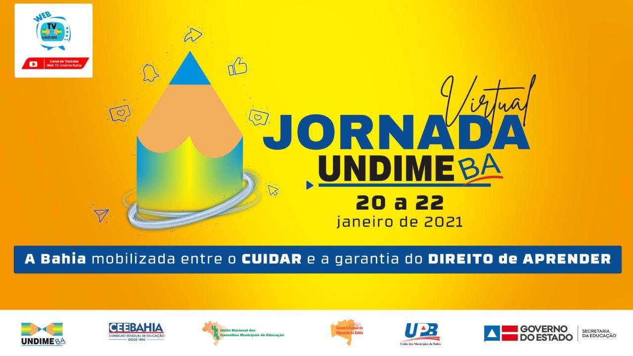 Undime Bahia realiza Jornada Virtual de 20 a 22 de janeiro