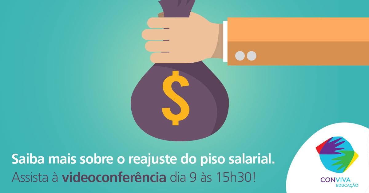Piso salarial para os profissionais do magistério será o tema da próxima videoconferência do Conviva Educação