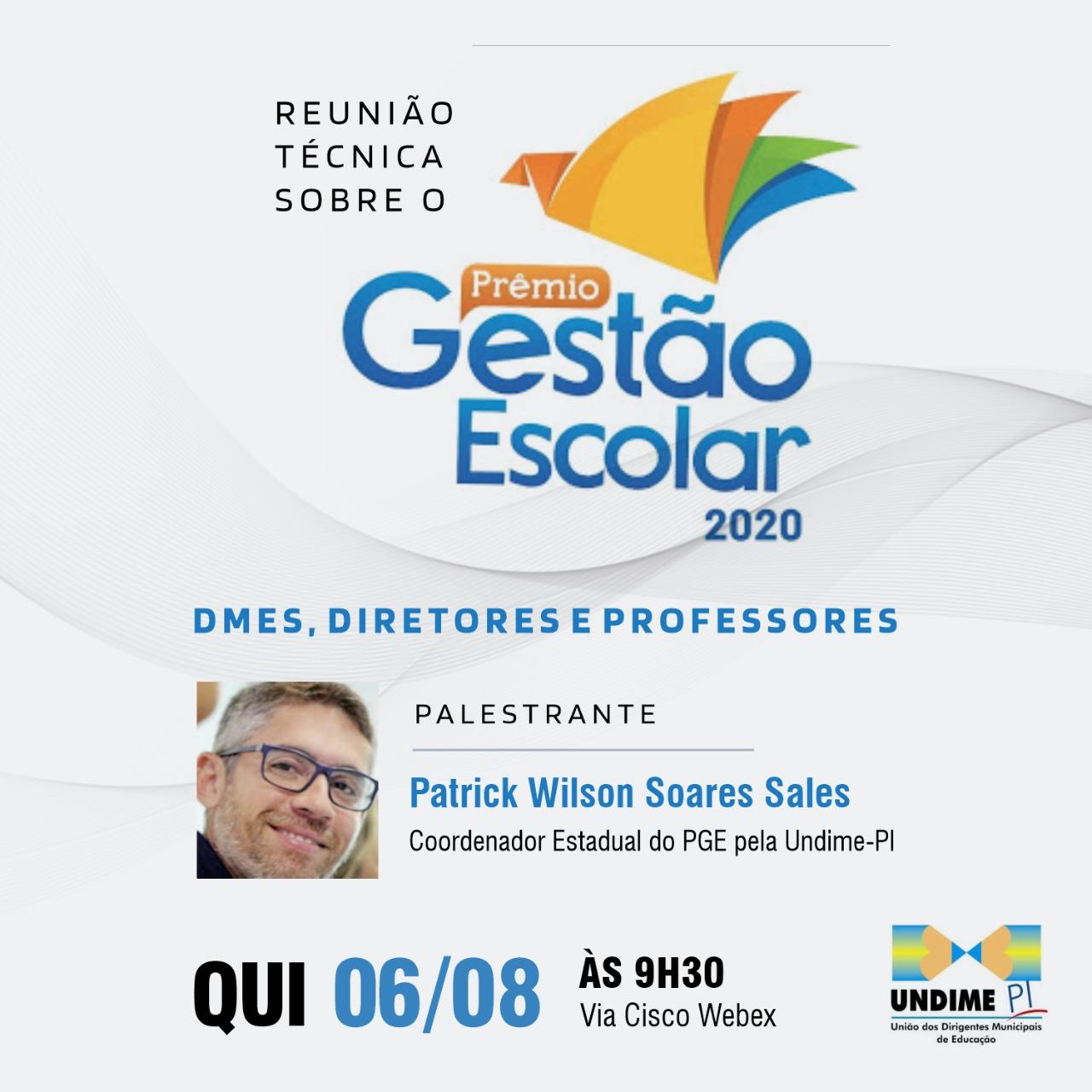 Undime-PI promove Reunião Técnica sobre o Prêmio Gestão Escolar 2020