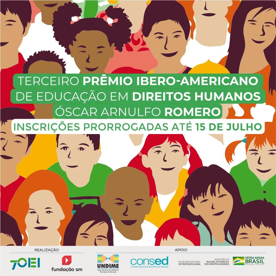 Prêmio de Educação em Direitos Humanos tem inscrições prorrogadas