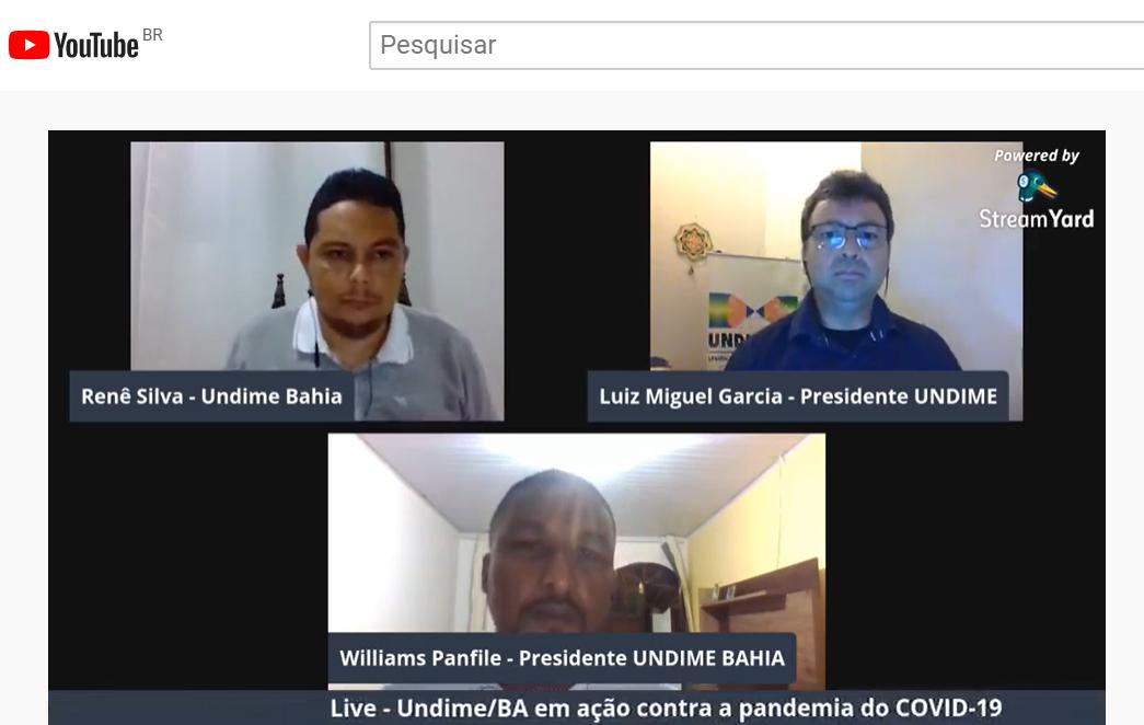 Undime Bahia realiza transmissão virtual para esclarecer dúvidas dos dirigentes