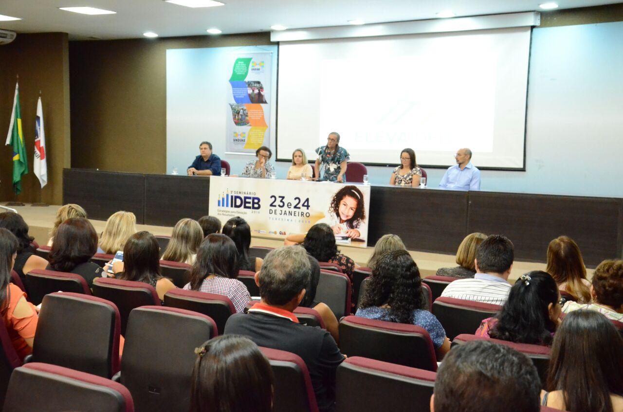 Undime Piauí promove seminário sobre estratégias para elevação do Ideb