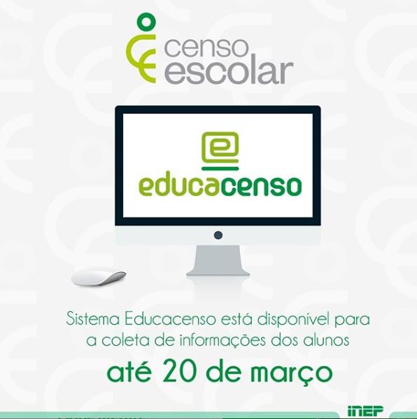 Censo Escolar: sistema está disponível para declaração da Situação do Aluno 2019