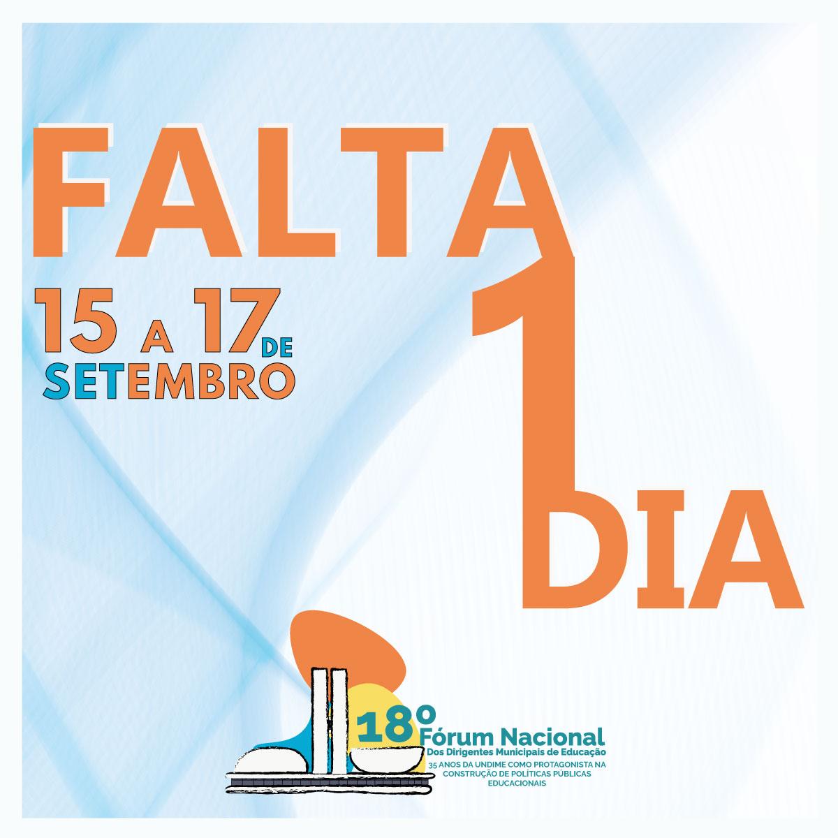 Começa amanhã o 18º Fórum Nacional da Undime