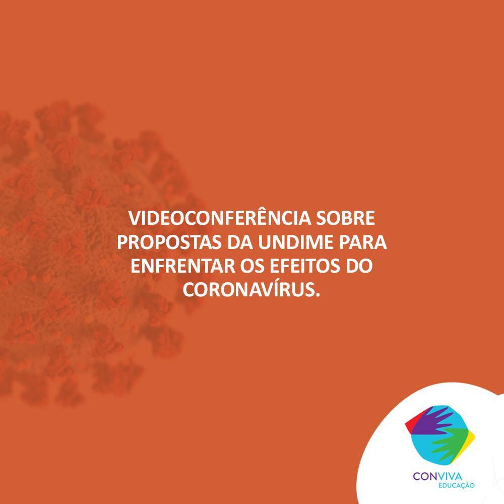 Videoconferência sobre o contexto da Educação na crise do coronavírus