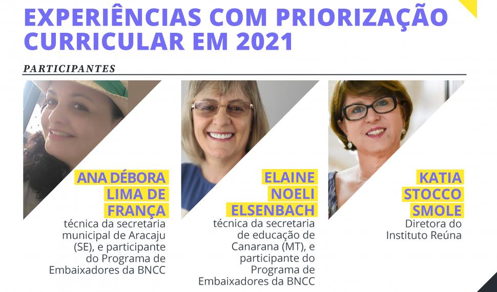 Movimento pela Base realiza vídeo ao vivo sobre priorização curricular em 2021