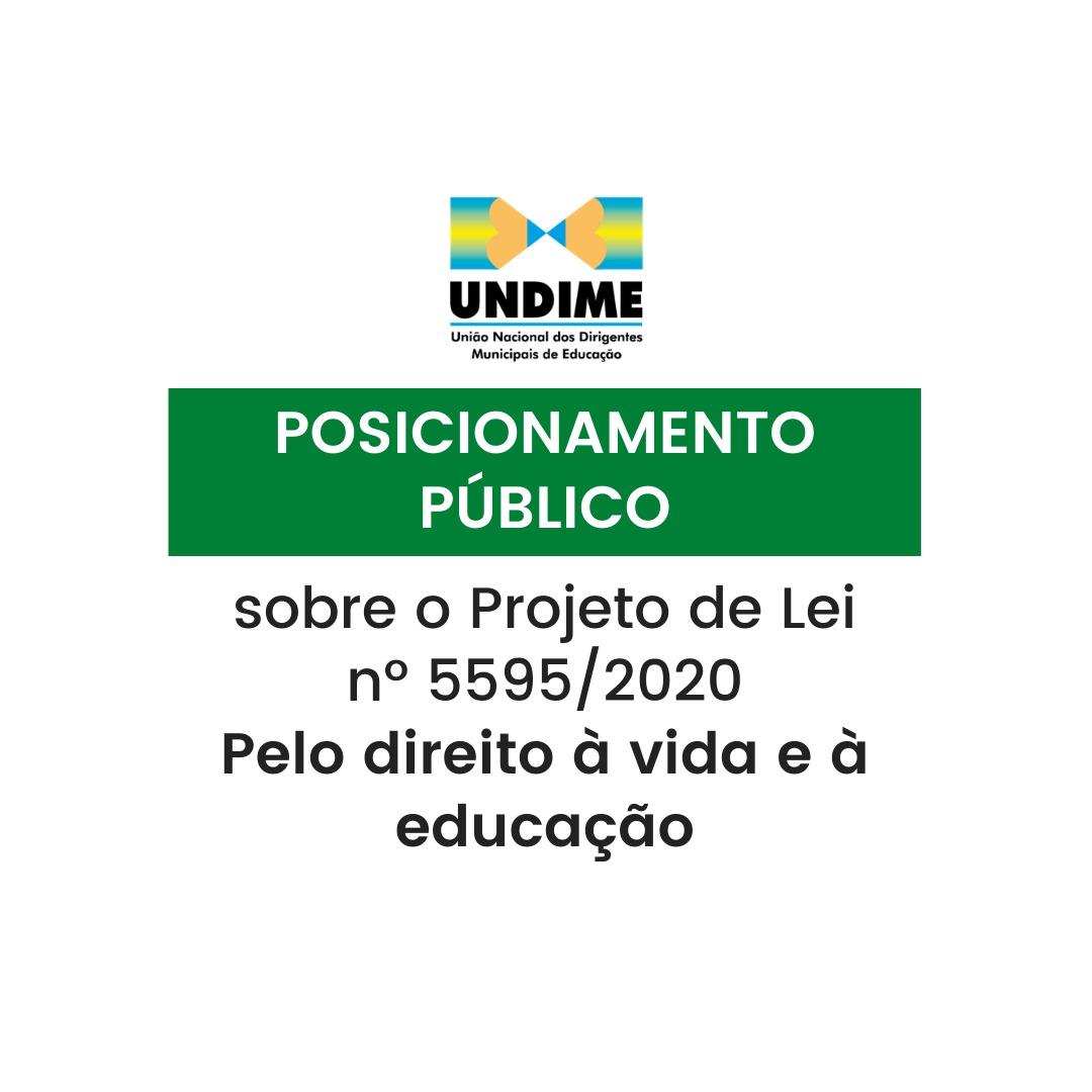 Posicionamento público sobre o Projeto de Lei nº 5595/2020