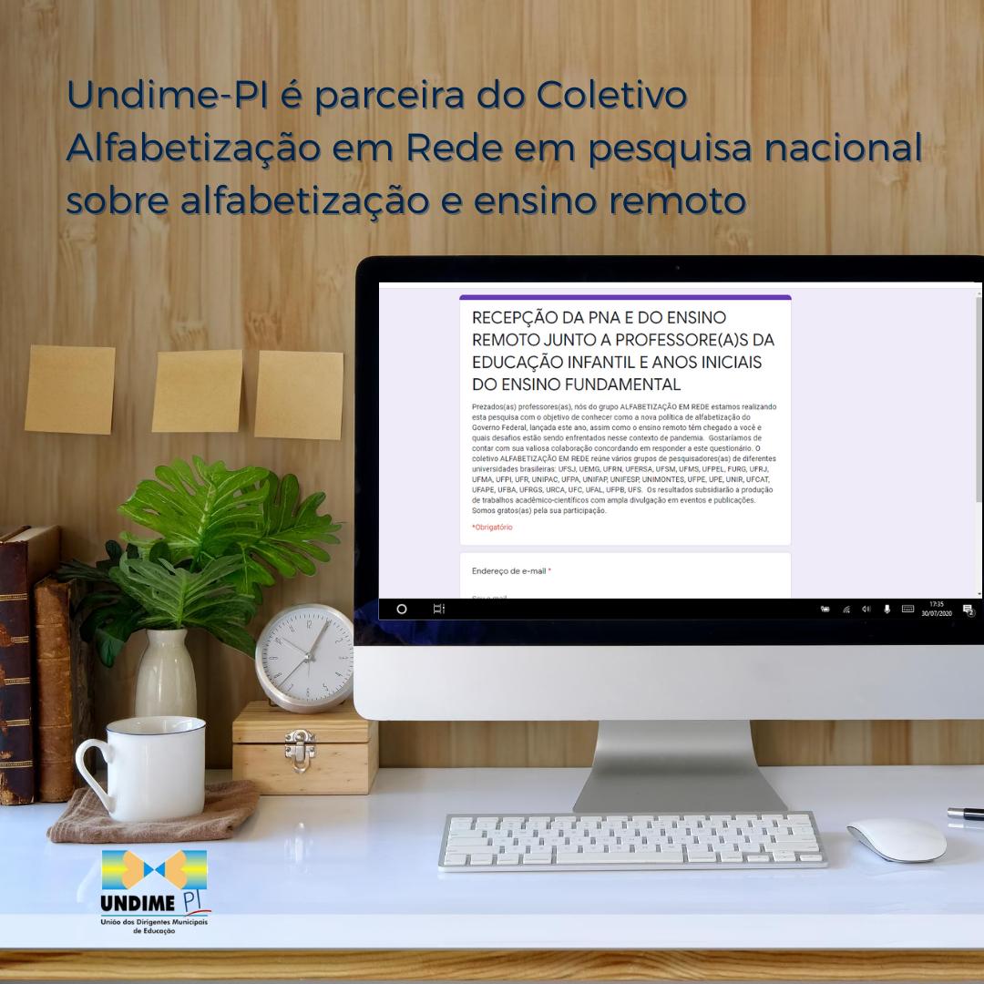 Undime-PI é parceira do Coletivo Alfabetização em Rede em pesquisa nacional sobre alfabetização e ensino remoto