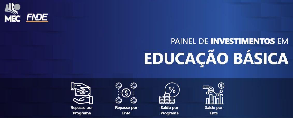 Ministério da Educação lança Painel de Investimento em Educação Básica
