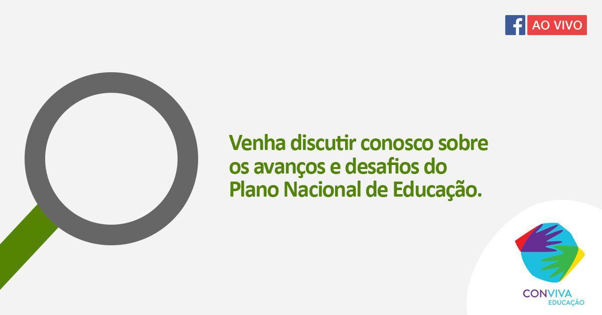 Conviva debate o Plano Nacional de Educação nesta segunda-feira (26)