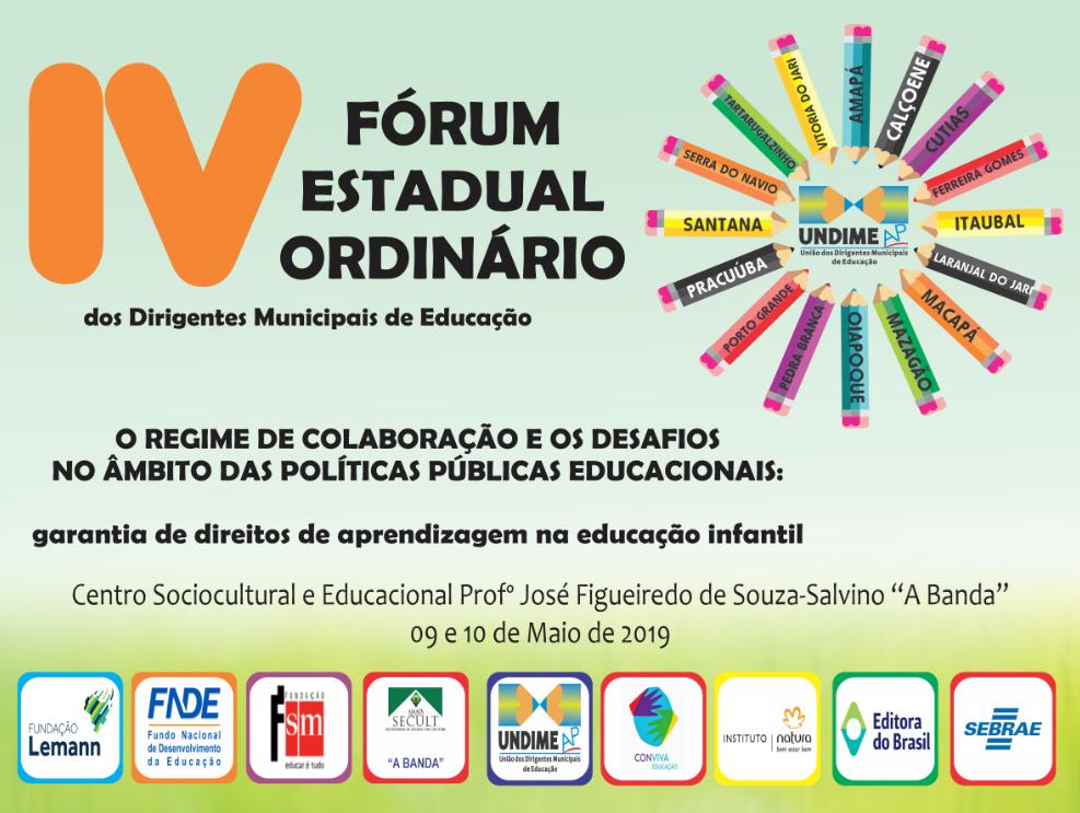 Undime Amapá promove Fórum Estadual Ordinário nos dias 9 e 10 de maio