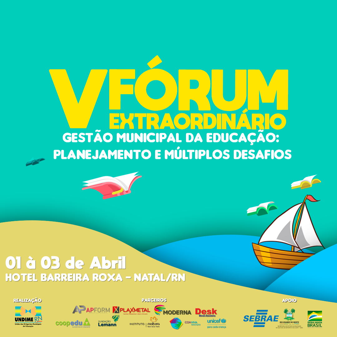Inscrições abertas para o V Fórum Extraordinário da Undime Rio Grande do Norte