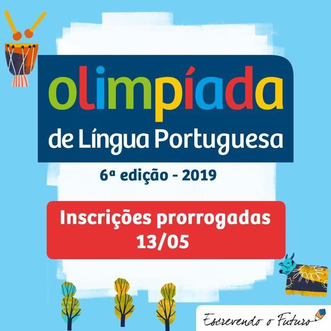Prorrogadas as inscrições para Olimpíada de Língua Portuguesa