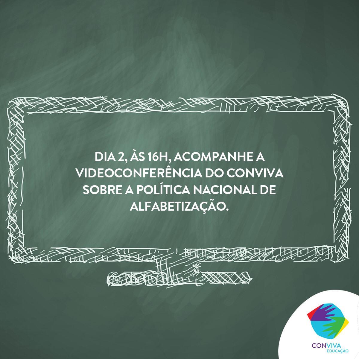Conviva Educação realiza videoconferência sobre a Política Nacional de Alfabetização