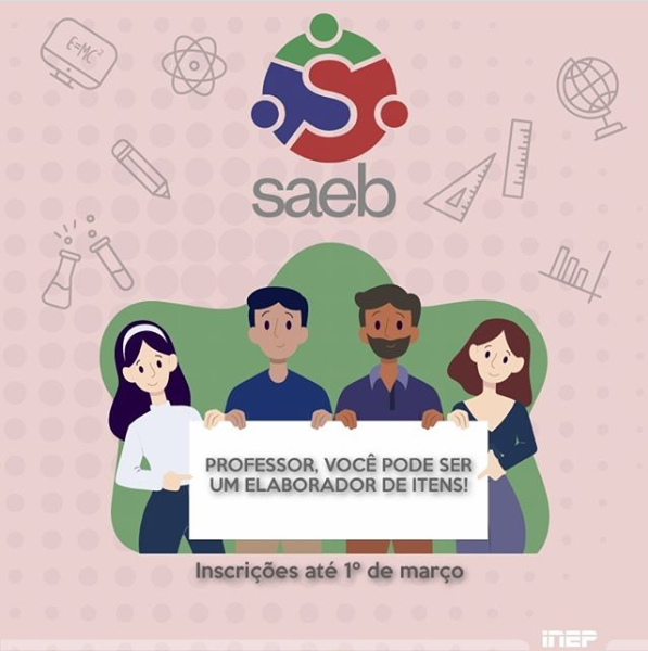 Saeb - Professores da educação básica podem se inscrever para elaborar itens até 1º março