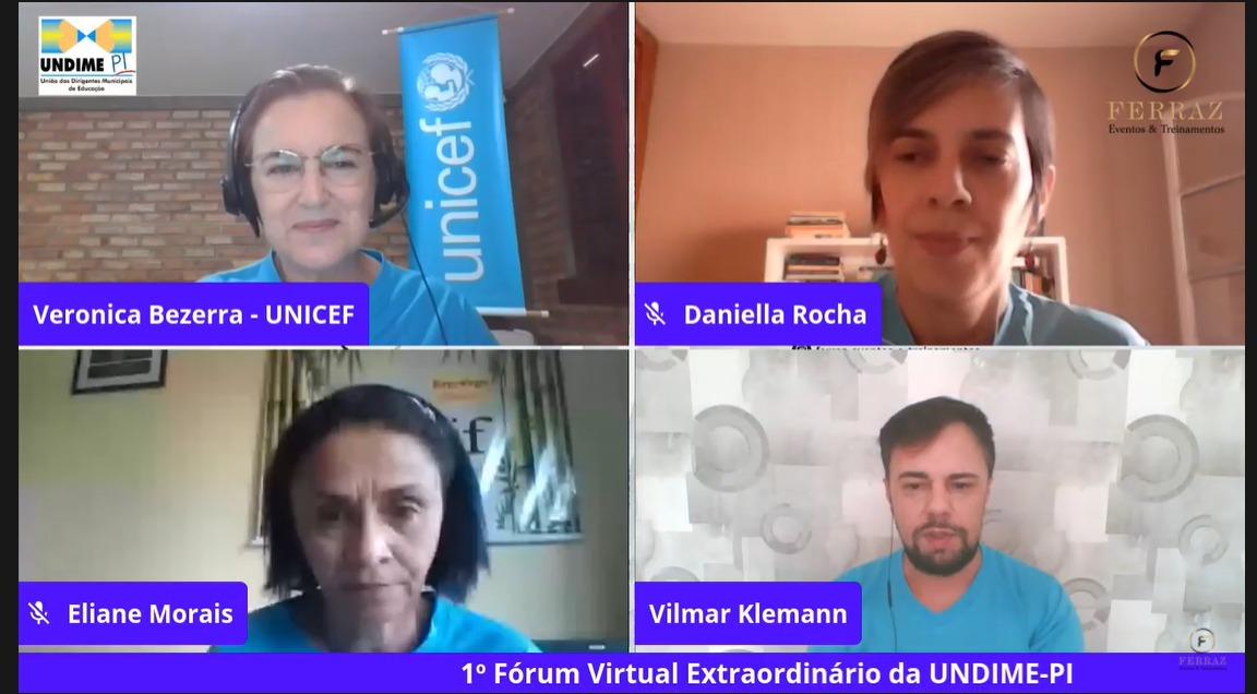 Último dia do I Fórum Virtual da Undime-PI é marcado por reflexões sobre a educação piauiense em tempos de pandemia