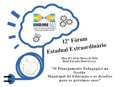 Undime Mato Grosso promove Fórum Estadual nos dias 25 e 26 de março