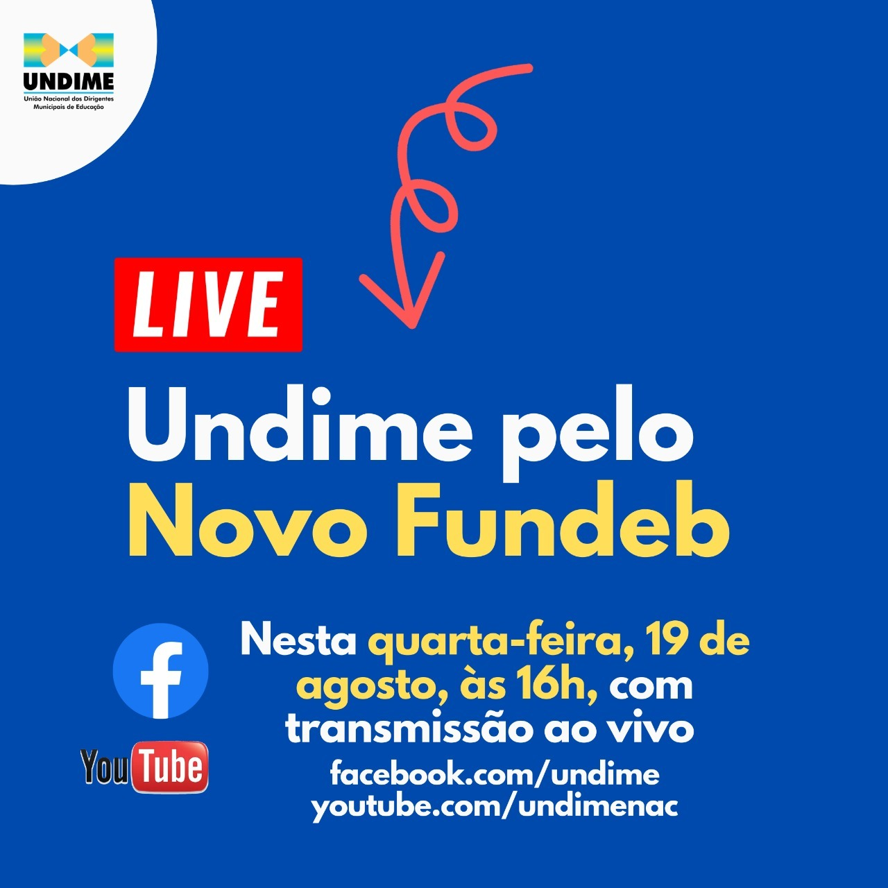 Undime promove live em defesa do Novo Fundeb