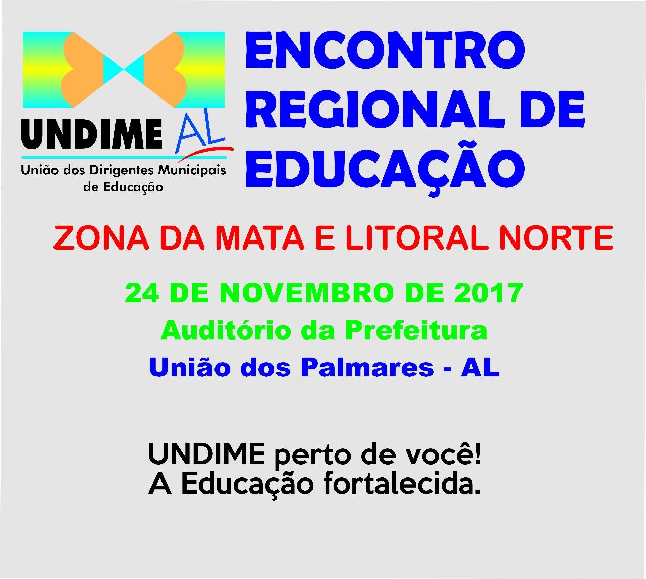 Undime Alagoas realiza I Encontro Regional de Educação em União dos Palmares