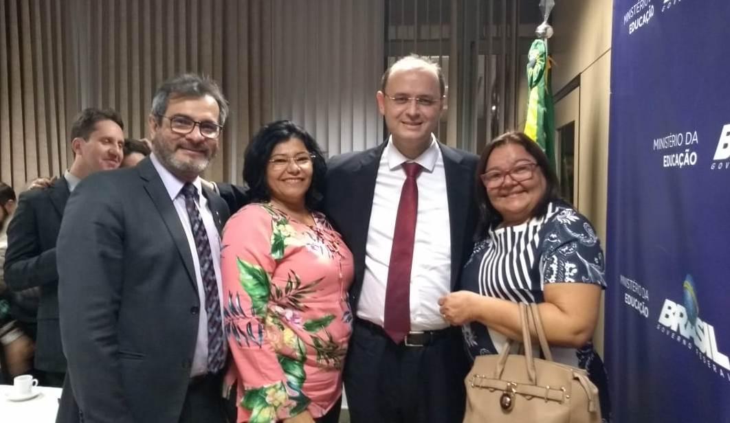 Em Brasília, presidente da Undime-RN participa de audiência com o Ministro da Educação