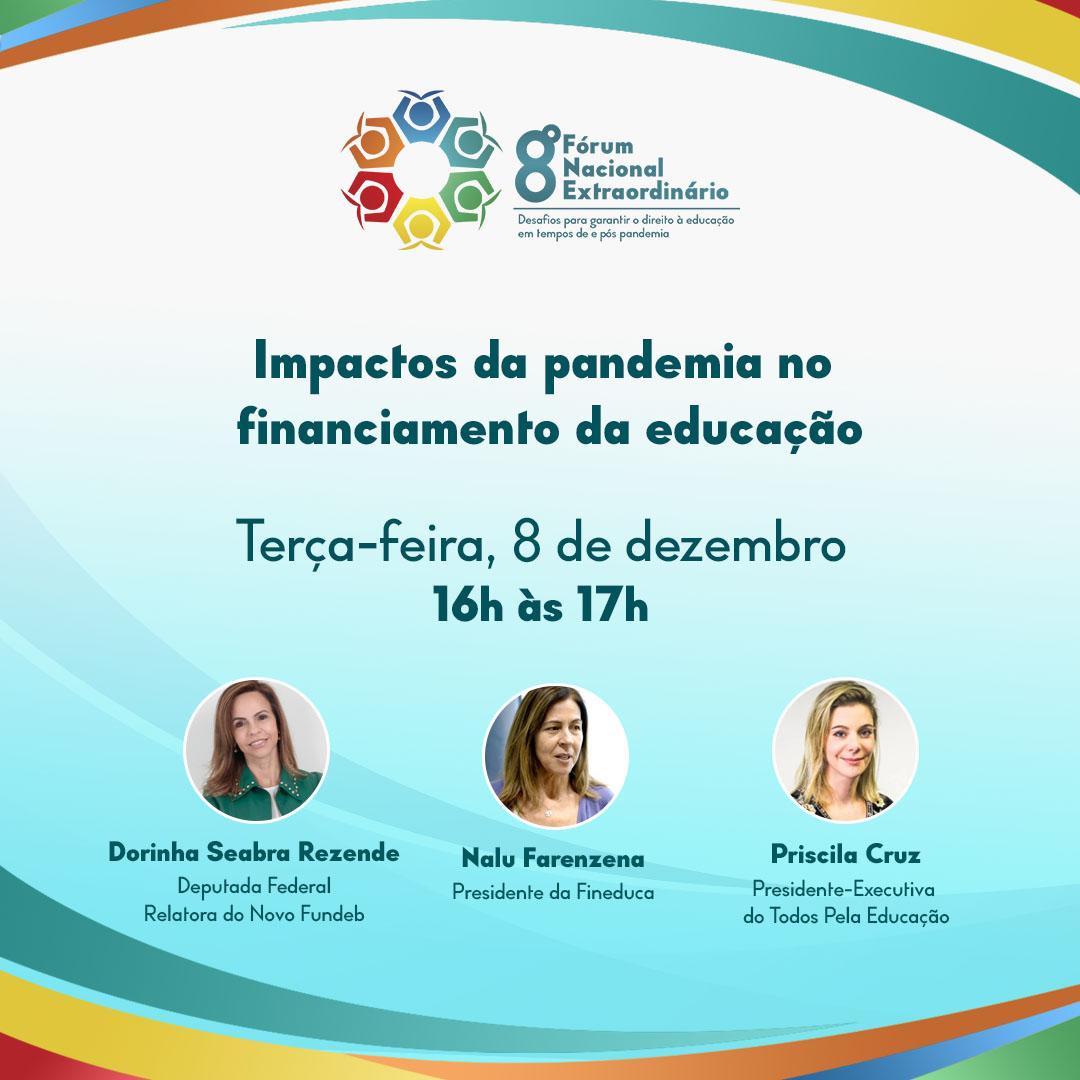 8º Fórum Nacional Extraordinário da Undime vai abordar os impactos da pandemia no financiamento da educação