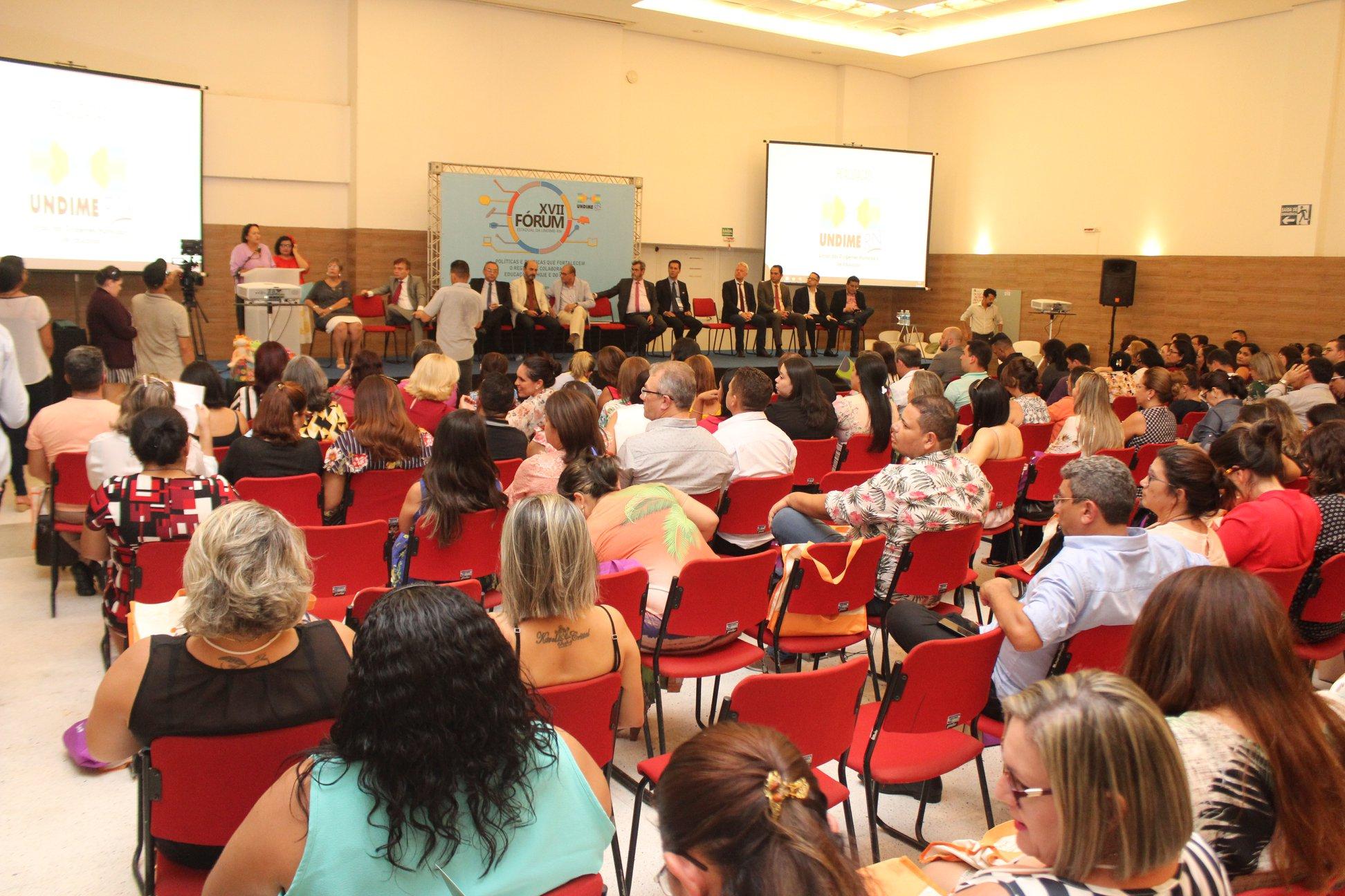Fórum da Undime RN reúne mais de 350 participantes e pauta regime de colaboração