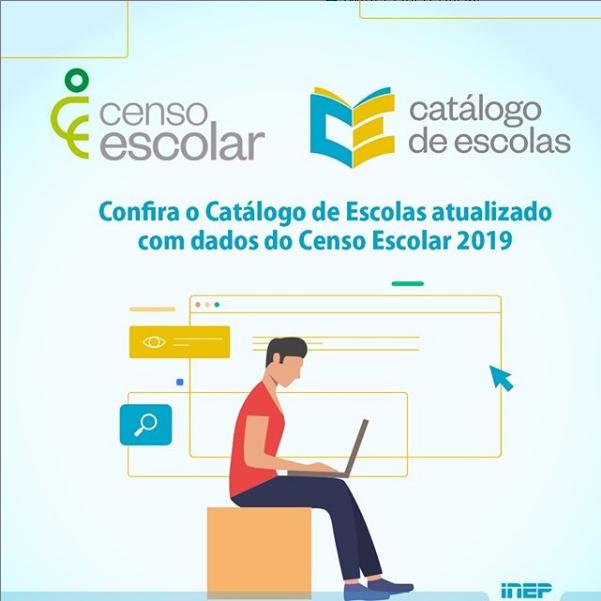 Catálogo de Escolas atualizado com dados do Censo Escolar 2019