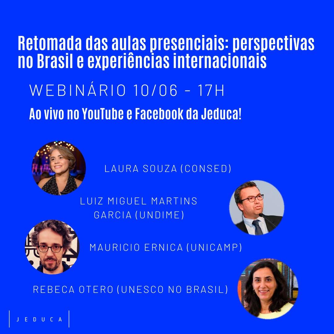 Undime participa de webinário sobre retomada das aulas presenciais: perspectivas no Brasil e experiências internacionais