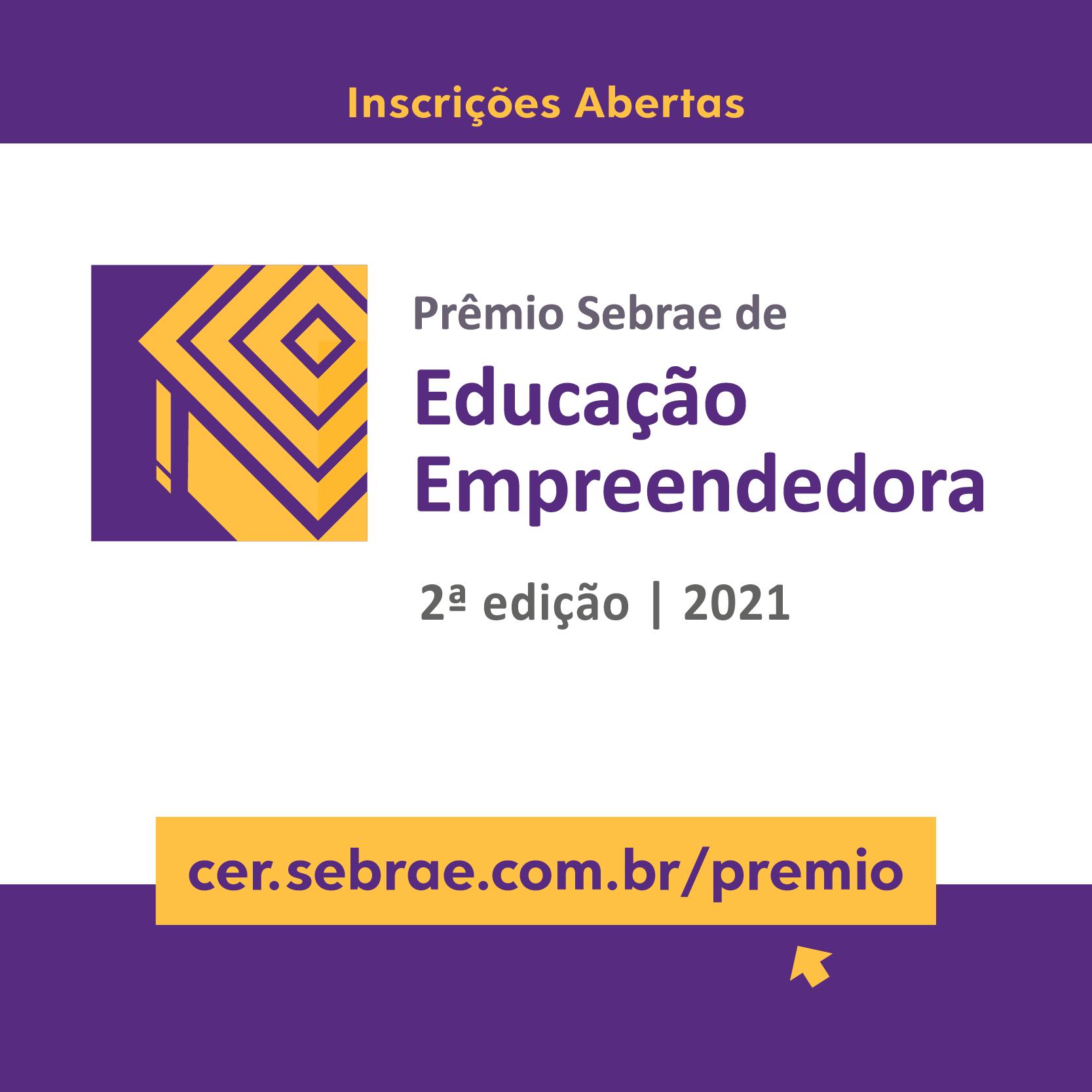 Sebrae lança segunda edição do Prêmio de Educação Empreendedora