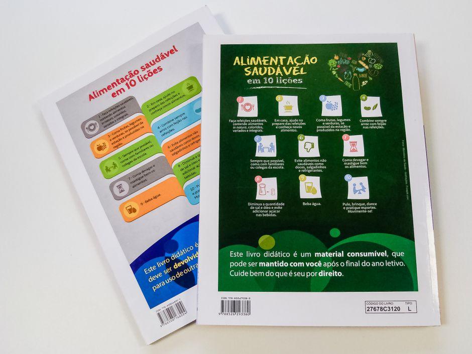 Livros didáticos terão mensagens sobre alimentação saudável