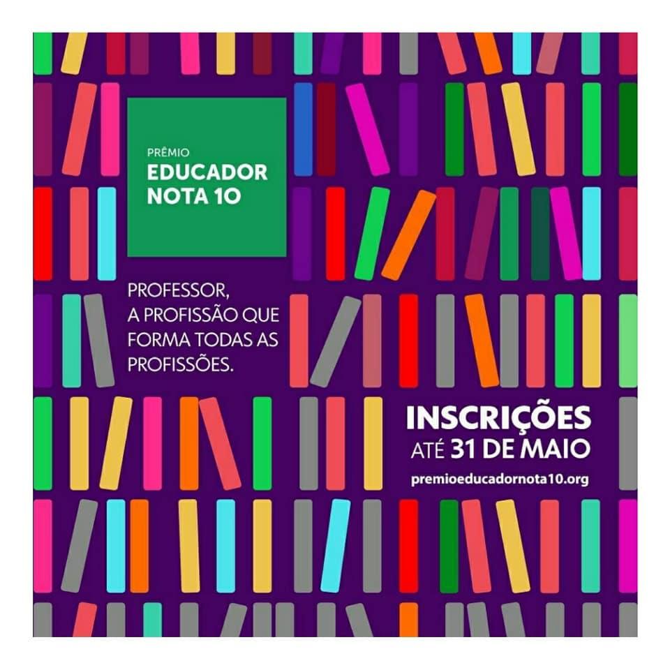 Prêmio Educador Nota 10: inscrições até 31 de maio