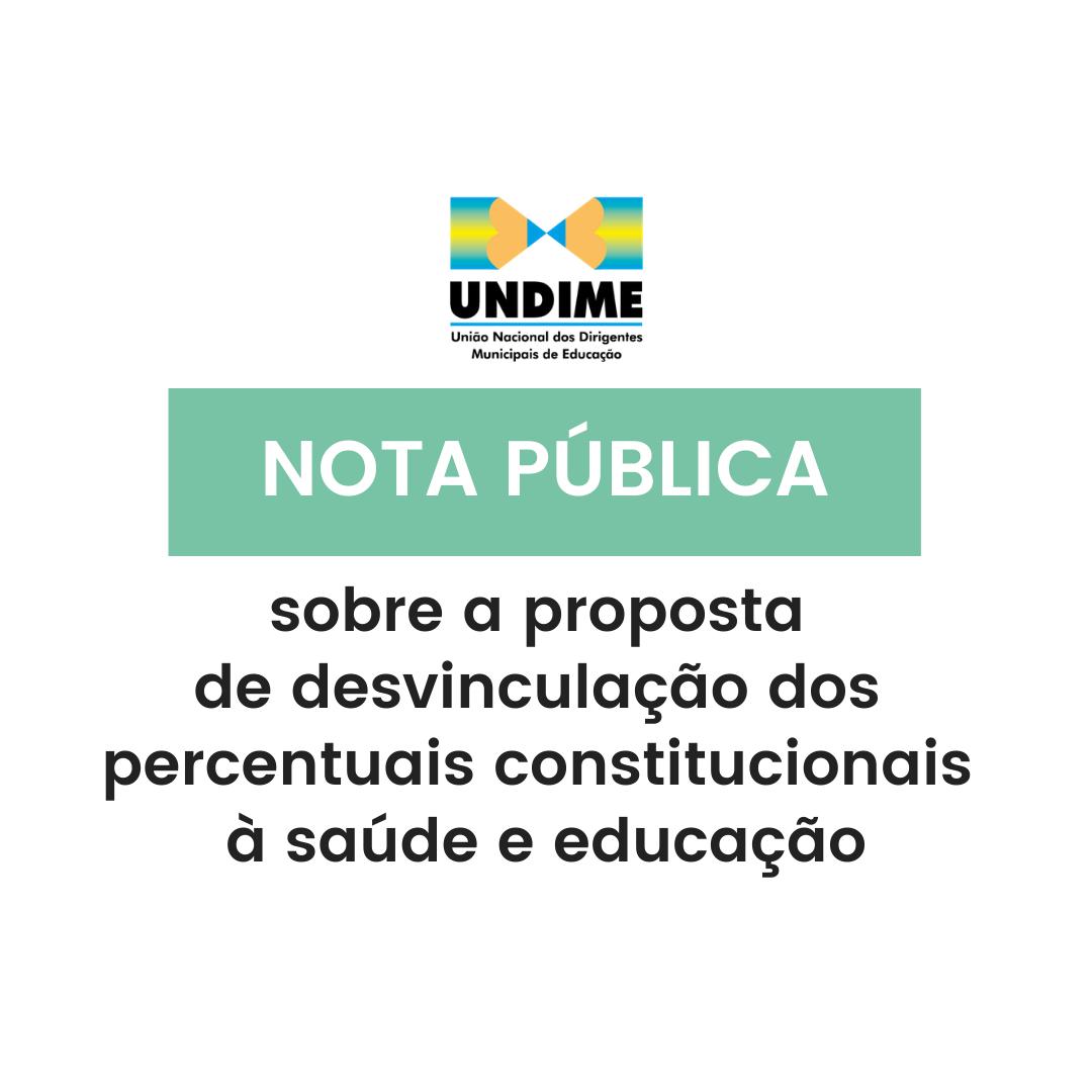Nota Pública sobre a proposta de desvinculação dos percentuais constitucionais à saúde e educação