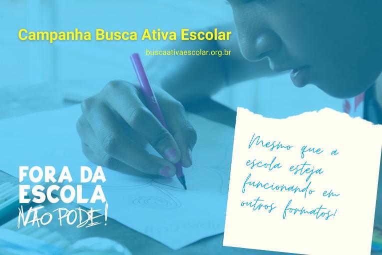 Unicef e Undime lançam campanha de Busca Ativa Escolar para municípios e estados