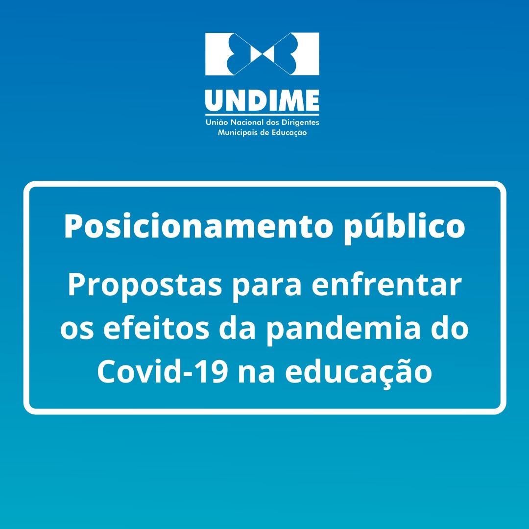 Posicionamento público - Propostas para enfrentar os efeitos da pandemia do Covid-19 na educação