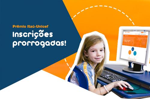 Prêmio Itaú-Unicef prorroga prazo de inscrições para 4 de junho