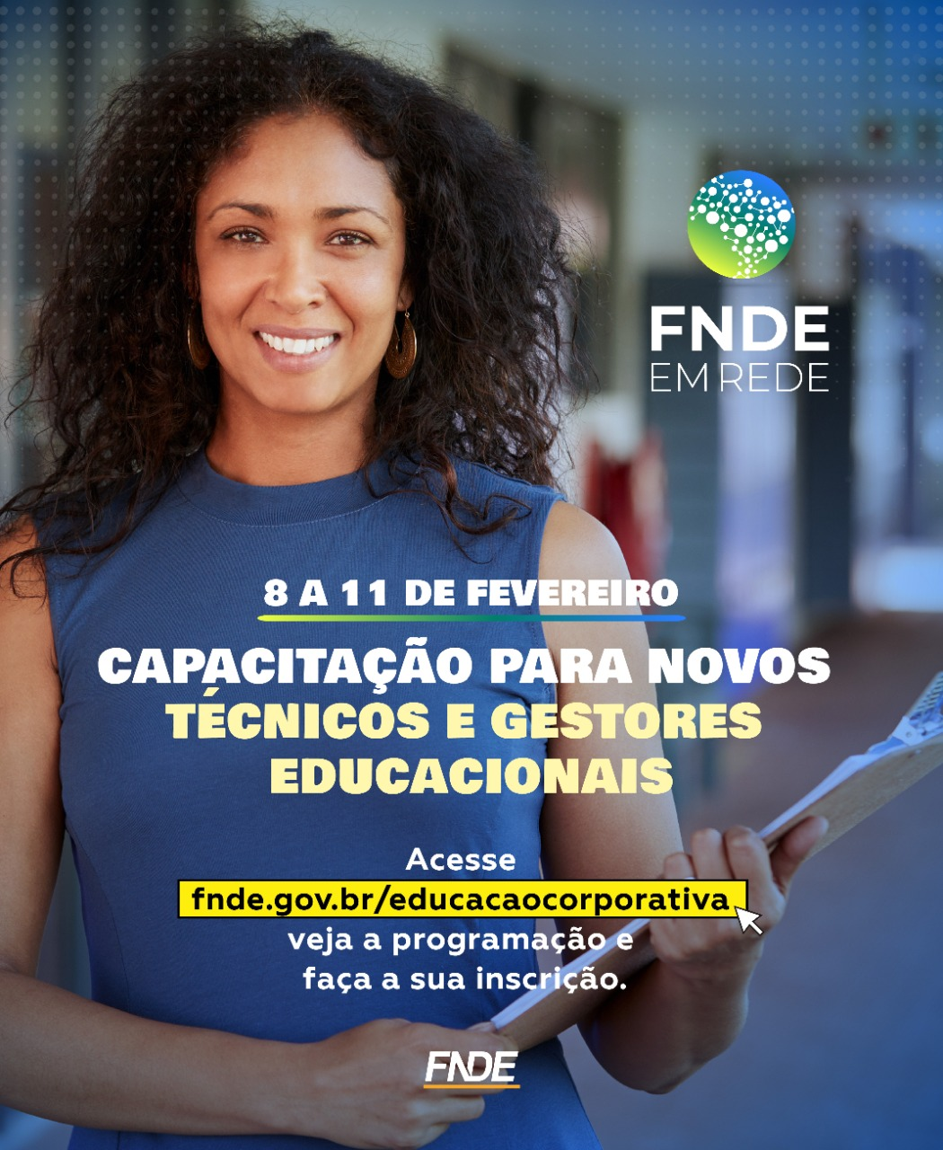 Inscreva-se no encontro virtual do FNDE para novos gestores