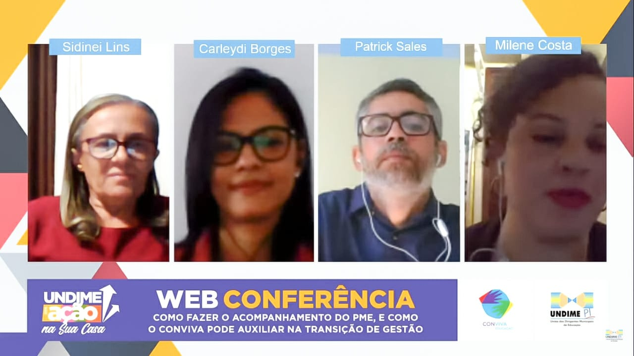 Projeto Undime em Ação - na Sua Casa realiza web conferência sobre acompanhamento do PME e auxílio do Conviva na transição de gestão